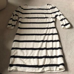 Cream and black dress!